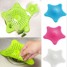 Starfish Shaped Silicone Sink Strainer - Drain Filter - Multicolor